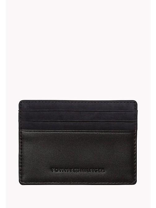 TOMMY HILFIGER Leather Cardholder - TOMMY NAVY / BLACK - TOMMY HILFIGER Bags & Accessories - main image
