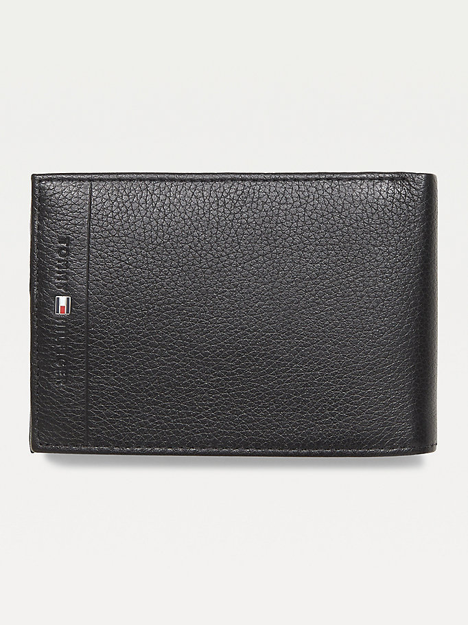 TOMMY HILFIGER Texture Leather Wallet - TESTA DI MORO - TOMMY HILFIGER Men - main image