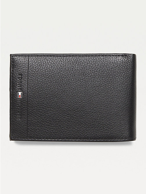 TOMMY HILFIGER Texture Leather Wallet - BLACK - TOMMY HILFIGER Portemonnees & sleutelhangers - main image