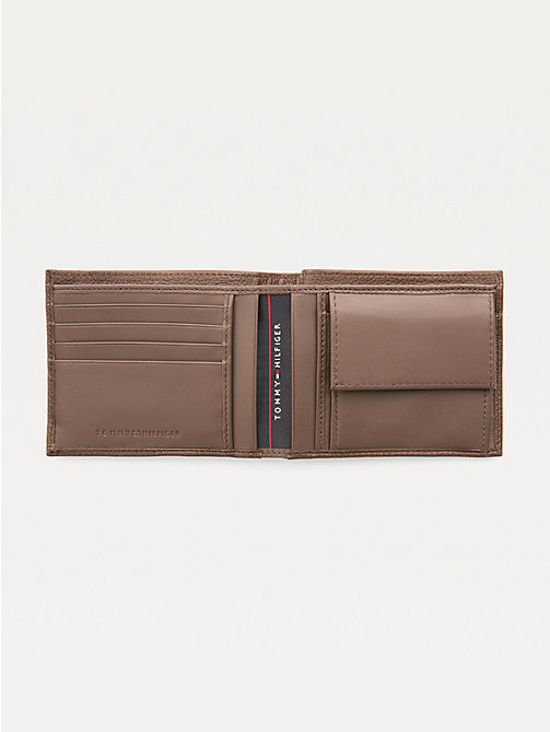 TOMMY HILFIGER Texture Leather Wallet - TESTA DI MORO - TOMMY HILFIGER Wallets & Keyrings - detail image 1