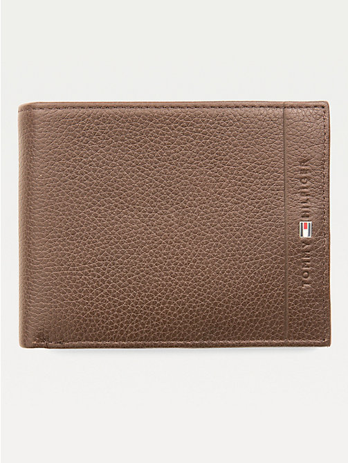 TOMMY HILFIGER Texture Leather Wallet - TESTA DI MORO - TOMMY HILFIGER Wallets & Keyrings - main image