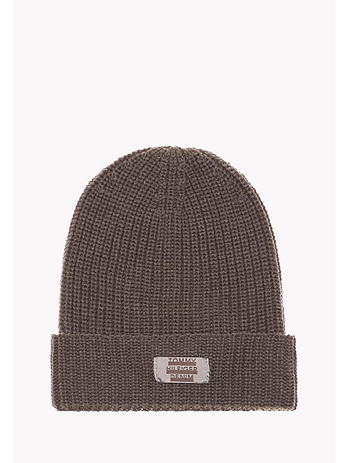 TOMMY JEANS Beanie - 039-LIGHT GREY HEATHER - TOMMY JEANS Men - main image