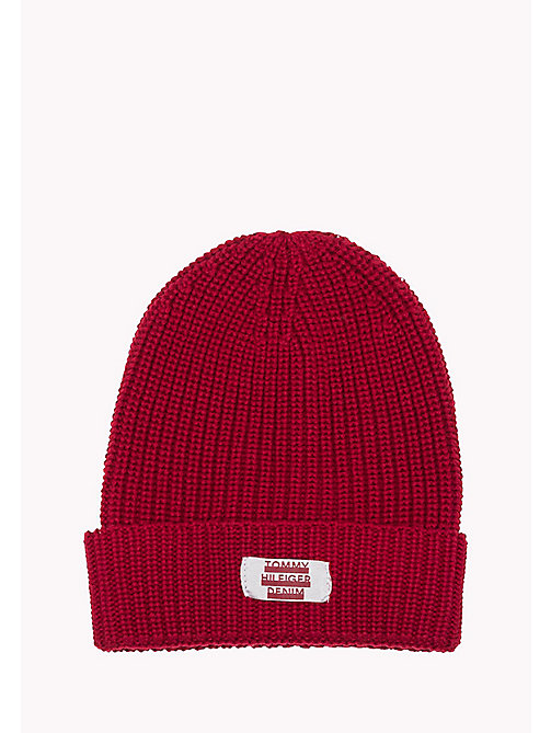 TOMMY JEANS Beanie - WINDSOR WINE - TOMMY JEANS Men - main image