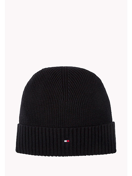 TOMMY HILFIGER Cotton Cashmere Beanie - BLACK - TOMMY HILFIGER Bags & Accessories - main image