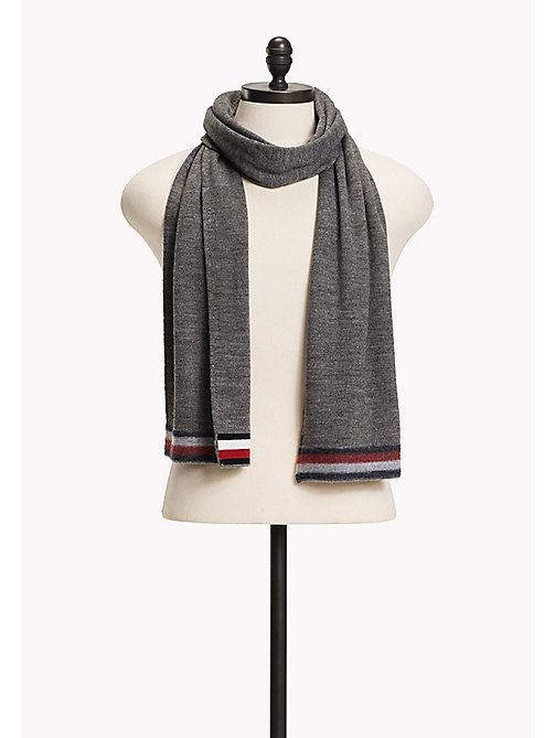 TOMMY HILFIGER Wool Blend Scarf - SILVER FOG HEATHER - TOMMY HILFIGER Bags & Accessories - main image