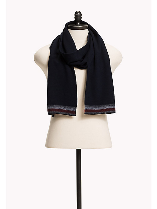 TOMMY HILFIGER Wool Blend Scarf - TOMMY NAVY - TOMMY HILFIGER Bags & Accessories - main image