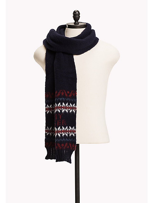 TOMMY HILFIGER Fairisle Scarf - SKY CAPTAIN HEATHER - TOMMY HILFIGER Bags & Accessories - main image