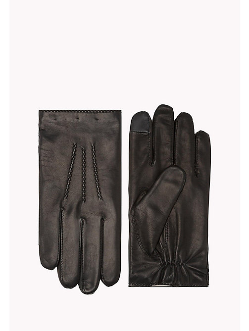 TOMMY HILFIGER Leather Touchscreen Gloves - BLACK - TOMMY HILFIGER Bags & Accessories - main image