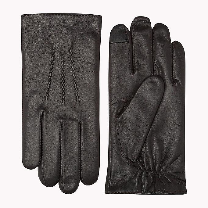 leather touchscreen gloves tommy hilfiger official website. Black Bedroom Furniture Sets. Home Design Ideas