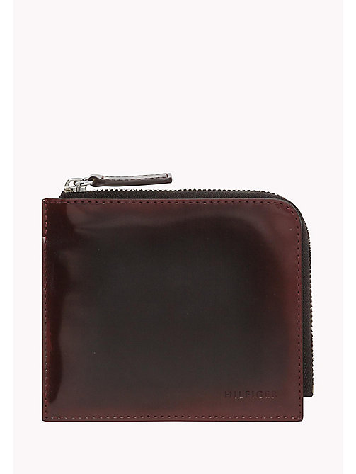 TOMMY HILFIGER Leather Zip-Around Wallet - BURGUNDY - TOMMY HILFIGER Bags & Accessories - main image