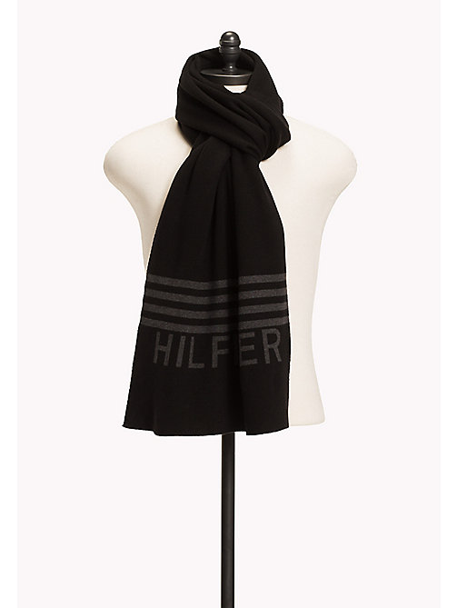 TOMMY JEANS Hilfiger Scarf - BLACK - TOMMY JEANS Bags & Accessories - main image