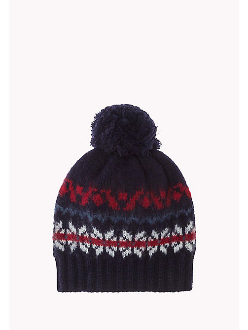 TOMMY HILFIGER Fairisle Beanie - SKY CAPTAIN HEATHER - TOMMY HILFIGER Bags & Accessories - main image