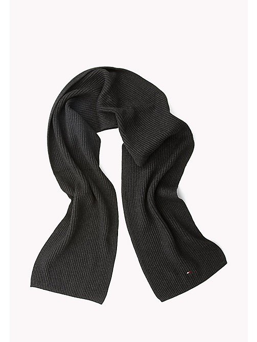 TOMMY HILFIGER Cotton Cashmere Scarf - CHARCOAL HTR - TOMMY HILFIGER Bags & Accessories - detail image 1