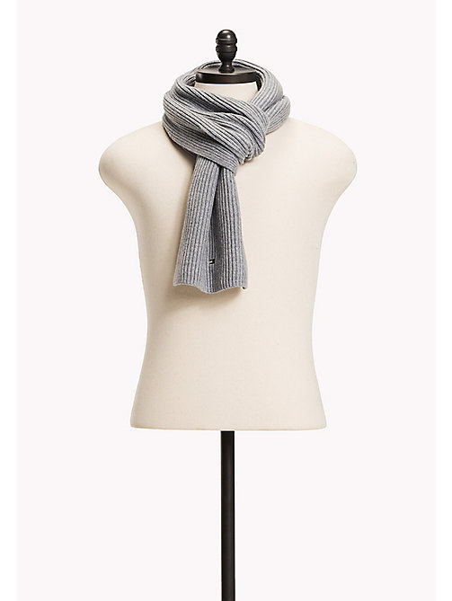 TOMMY HILFIGER Cotton Cashmere Scarf - MONUMENT HEATHER - TOMMY HILFIGER Bags & Accessories - main image