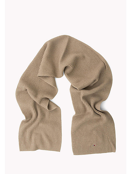 TOMMY HILFIGER Cotton Cashmere Scarf - FOSSIL HEATHER - TOMMY HILFIGER Bags & Accessories - detail image 1