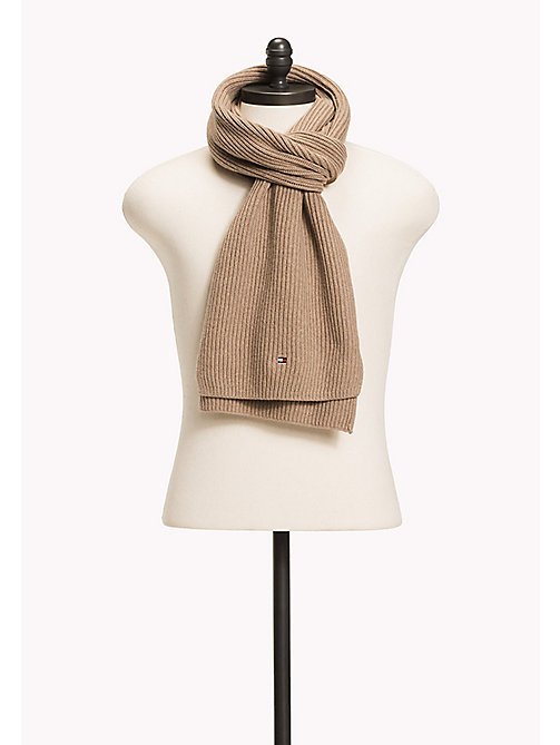TOMMY HILFIGER Cotton Cashmere Scarf - FOSSIL HEATHER - TOMMY HILFIGER Bags & Accessories - main image