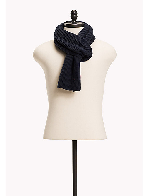 TOMMY HILFIGER Cotton Cashmere Scarf - SKY CAPTAIN HEATHER - TOMMY HILFIGER Bags & Accessories - main image