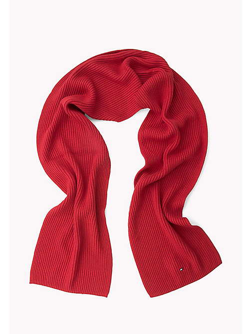 TOMMY HILFIGER Cotton Cashmere Scarf - HAUTE RED HEATHER - TOMMY HILFIGER Men - detail image 1