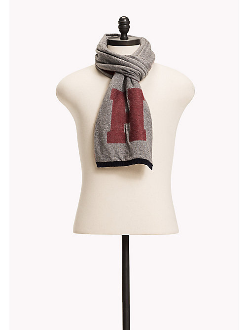 TOMMY HILFIGER Wool/Cashmere Blend Scarf - SILVER FOG HEATHER - TOMMY HILFIGER Bags & Accessories - main image