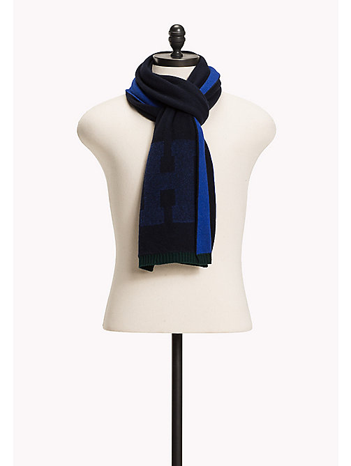 TOMMY HILFIGER Wool/Cashmere Blend Scarf - TOMMY NAVY - TOMMY HILFIGER Bags & Accessories - main image