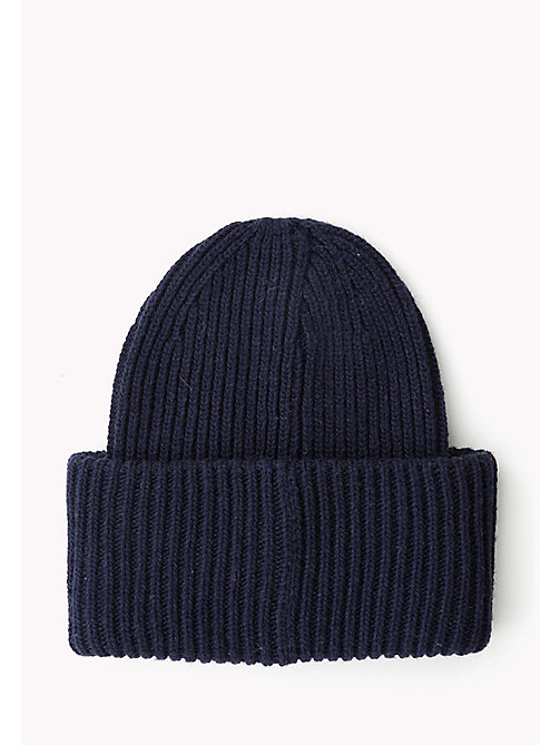 TOMMY HILFIGER Oversized Wool Blend Beanie - TOMMY NAVY - TOMMY HILFIGER Bags & Accessories - detail image 1