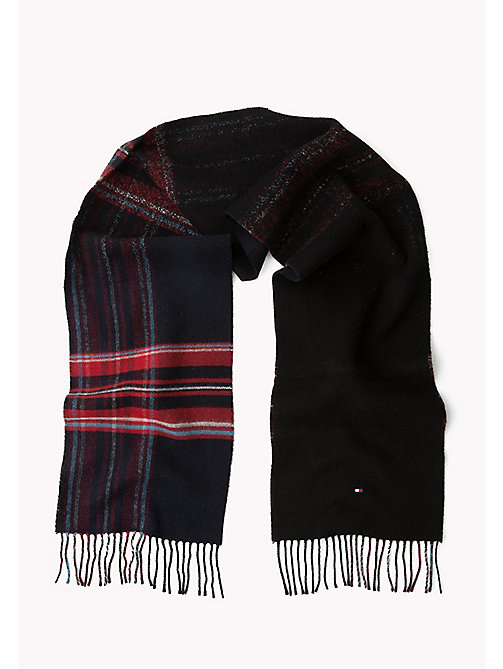 TOMMY HILFIGER Wool Blend Tartan Scarf - TOMMY NAVY - TOMMY HILFIGER Bags & Accessories - detail image 1