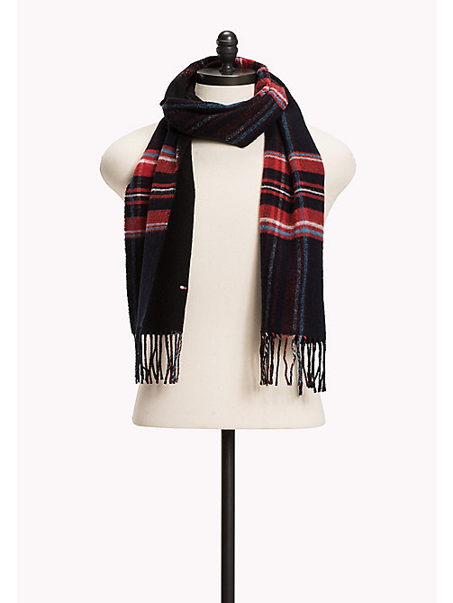 TOMMY HILFIGER Wool Blend Tartan Scarf - TOMMY NAVY - TOMMY HILFIGER Bags & Accessories - main image