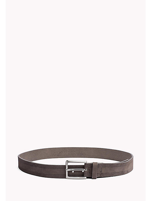 TOMMY HILFIGER Embossed Leather Belt - ASPHALT - TOMMY HILFIGER Bags & Accessories - main image