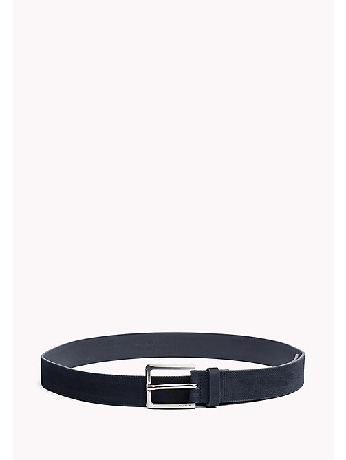 TOMMY HILFIGER Embossed Leather Belt - TOMMY NAVY - TOMMY HILFIGER Bags & Accessories - main image