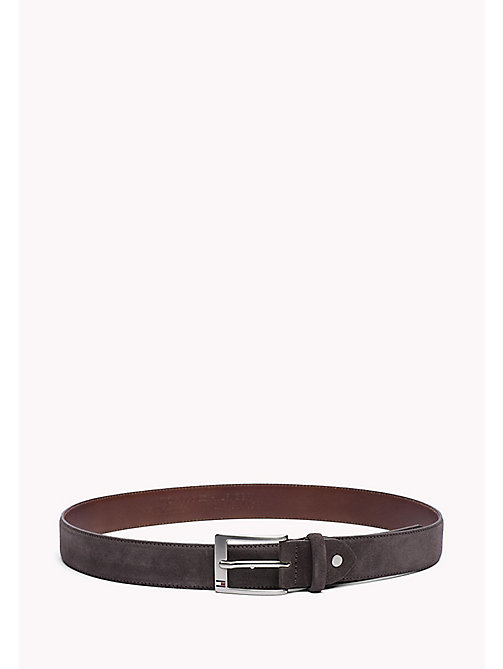 TOMMY HILFIGER Leather Belt - DARK GREY - TOMMY HILFIGER Belts - main image