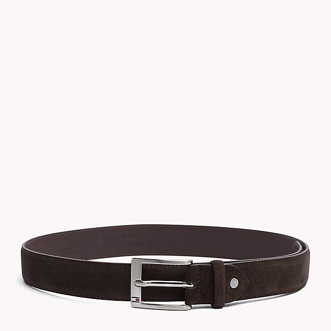 TOMMY HILFIGER Leather Belt - TOMMY NAVY - TOMMY HILFIGER Men - main image