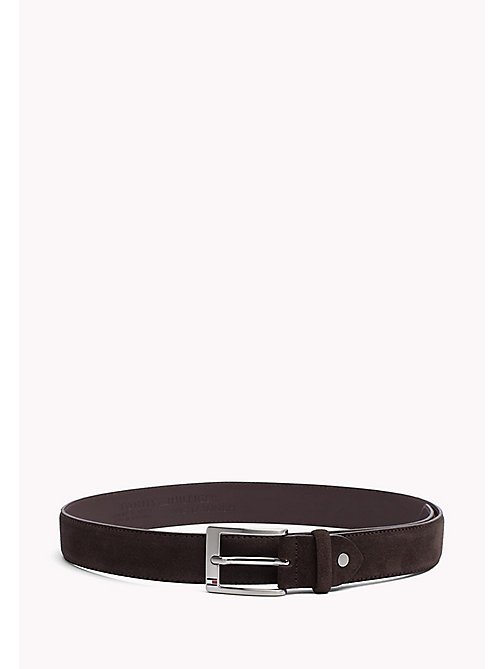 TOMMY HILFIGER Leather Belt - TESTA DI MORO - TOMMY HILFIGER Belts - main image