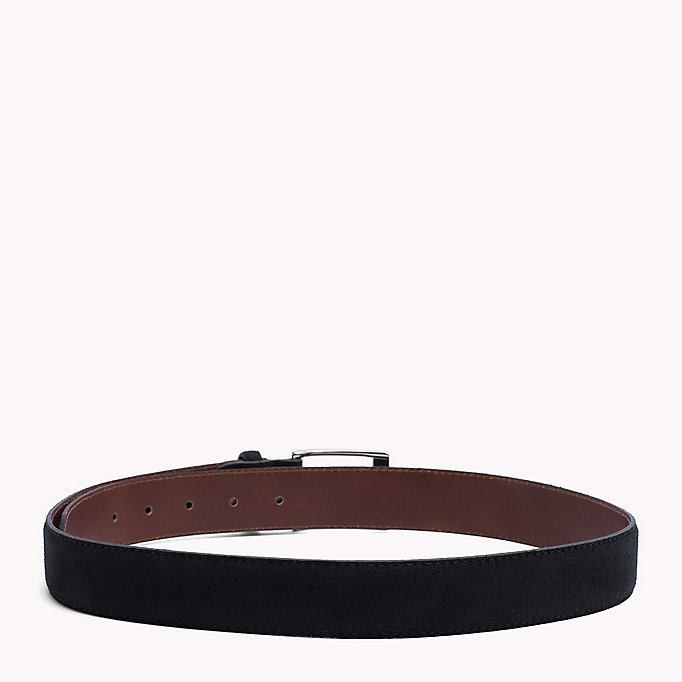 TOMMY HILFIGER Leather Belt - DARK GREY - TOMMY HILFIGER Men - detail image 1
