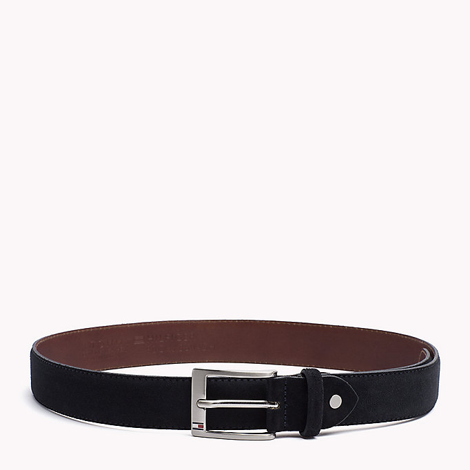 TOMMY HILFIGER Leather Belt - DARK GREY - TOMMY HILFIGER Men - main image