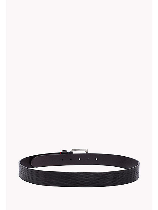 TOMMY HILFIGER Embossed Leather Belt - BLACK - TOMMY HILFIGER Bags & Accessories - detail image 1
