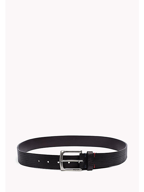 TOMMY HILFIGER Embossed Leather Belt - BLACK - TOMMY HILFIGER Bags & Accessories - main image