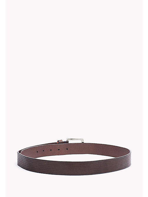 TOMMY HILFIGER Embossed Leather Belt - TESTA DI MORO - TOMMY HILFIGER Bags & Accessories - detail image 1