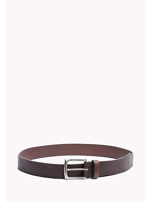 TOMMY HILFIGER Embossed Leather Belt - TESTA DI MORO - TOMMY HILFIGER Bags & Accessories - main image
