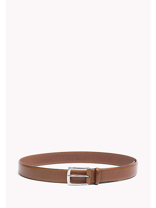 TOMMY HILFIGER Leather Belt - DARK TAN - TOMMY HILFIGER Bags & Accessories - main image