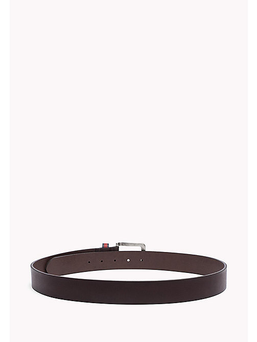 TOMMY JEANS Burnished Leather Belt - TESTA DI MORO - TOMMY JEANS Bags & Accessories - detail image 1