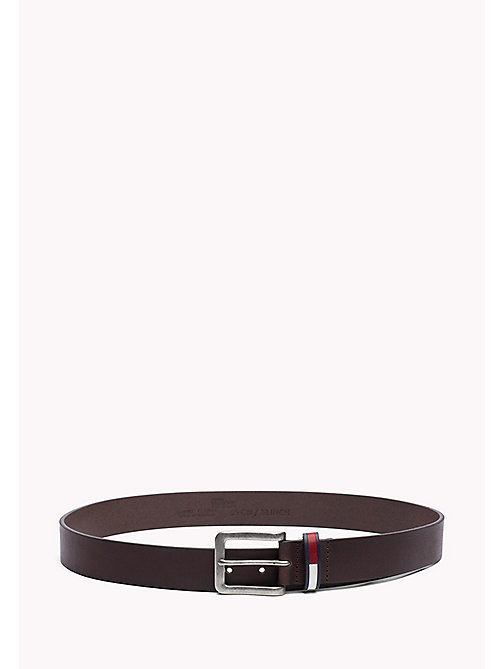 TOMMY JEANS Burnished Leather Belt - TESTA DI MORO - TOMMY JEANS Bags & Accessories - main image