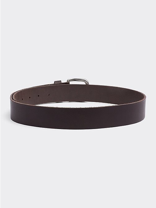 TOMMY JEANS Rounded Buckle Leather Belt - TESTA DI MORO - TOMMY JEANS Belts - detail image 1