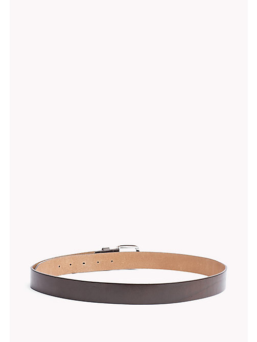 TOMMY HILFIGER Slim Leather Belt - BROWN - TOMMY HILFIGER Bags & Accessories - detail image 1