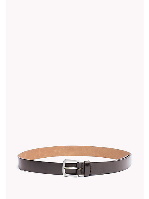 TOMMY HILFIGER Slim Leather Belt - BROWN - TOMMY HILFIGER Bags & Accessories - main image