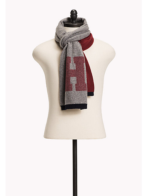 TOMMY HILFIGER Wool Blend Scarf and Beanie Gift Pack - CHARCOAL HTR - TOMMY HILFIGER Men - detail image 1