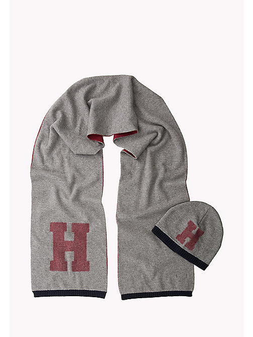 TOMMY HILFIGER Wool Blend Scarf and Beanie Gift Pack - CHARCOAL HTR - TOMMY HILFIGER Bags & Accessories - main image