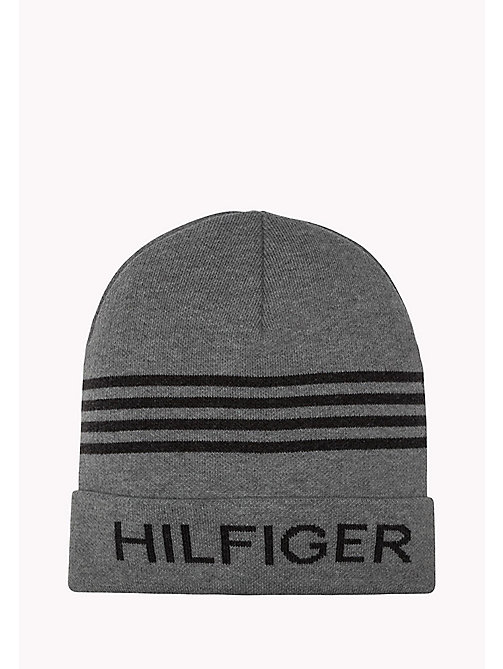 TOMMY JEANS Hilfiger Beanie - 039-LIGHT GREY HEATHER - TOMMY JEANS Bags & Accessories - main image