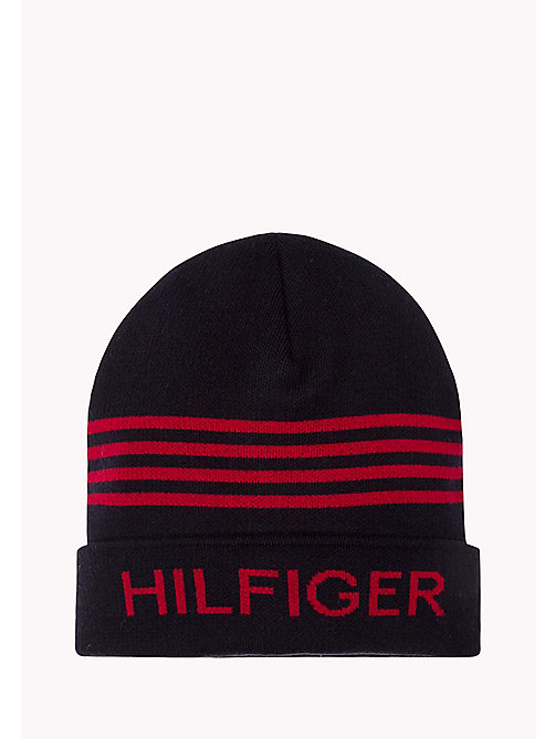 TOMMY JEANS Hilfiger Beanie - TRUE NAVY HEATHER - TOMMY JEANS Bags & Accessories - main image