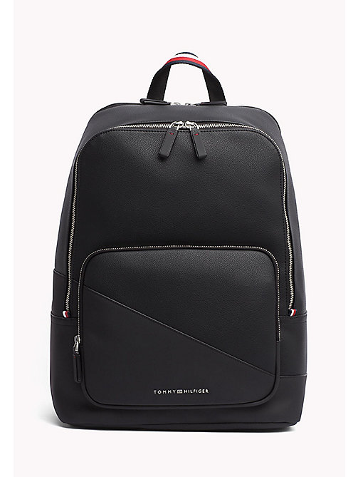 TOMMY HILFIGER Diagonal Backpack - BLACK - TOMMY HILFIGER Bags - main image