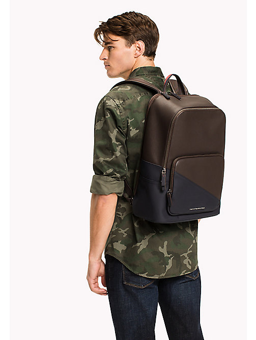 TOMMY HILFIGER Diagonal Backpack - COFFEE BEAN - TOMMY HILFIGER Bags - detail image 1